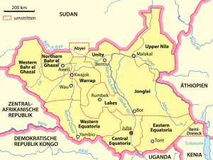 map_of_states_of_south_sudan